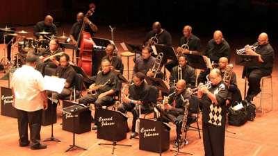 Conrad Johnson Big Band performing