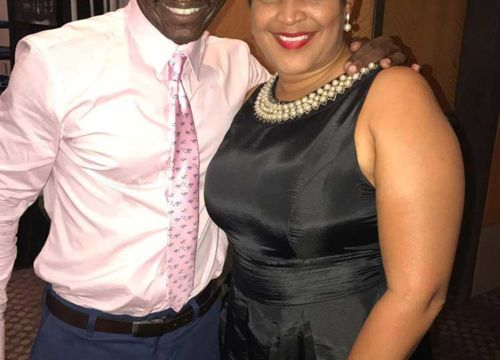 Cedric Burnside, BMA 2017 Drummer of the Year with Keeshea Pratt at the Blues Music Awards 2017